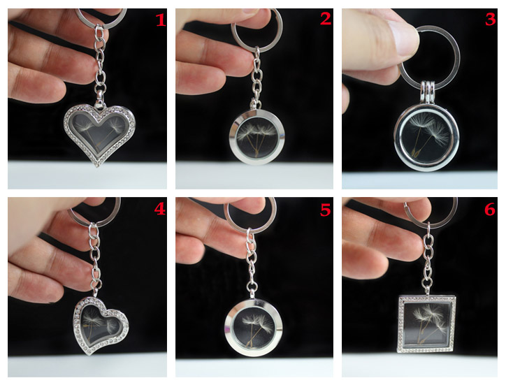 Glass Locket Dandelion Keychains(6 Designs available)