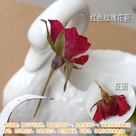Real dried Rose Pressed flowers (Sold in per package of 20pcs)