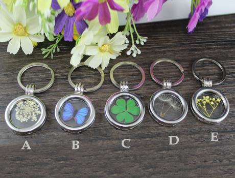 Glass Locket Keychains(5 Designs available)