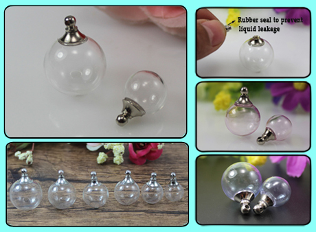 Glass Ball With Metal Screw Cap and Rubber Seal