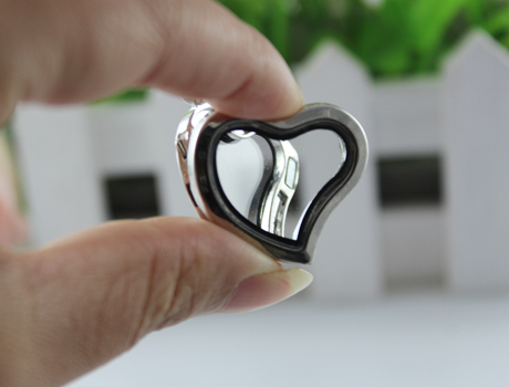 28X27MM metal glass box Lockets Pendants (4 colors available)