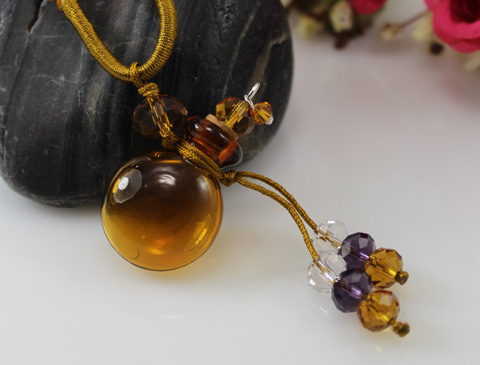 Murano Glass Perfume Necklace (with cord)