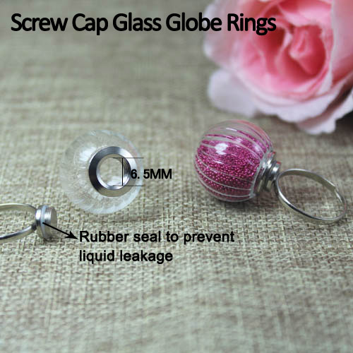 20MM Screw Glass Ball Ring(Adjustable)