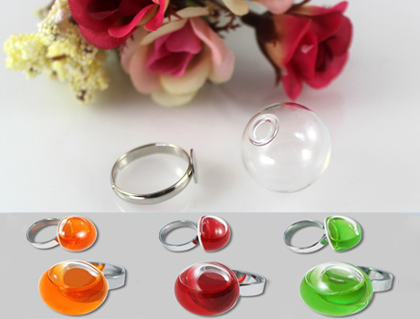 16/20MM Glass Ball Liquid Rings
