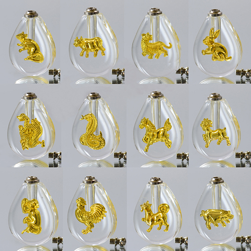 Gold Tear Drop Chinese Horoscope(Sold in a set of 12 designs)