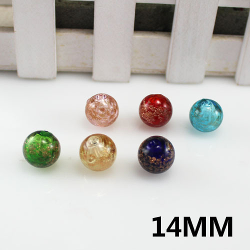 14MM Murano Glass Essential Oil Ball With 2 Holes