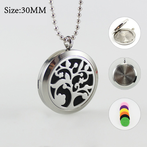 30MM Tree of Life Diffuser Locket  Necklace