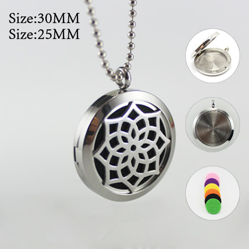 25/30MM Diffuser Locket Necklace