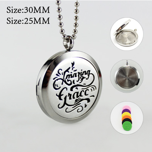 25MM/30MM Diffuser Locket Necklace
