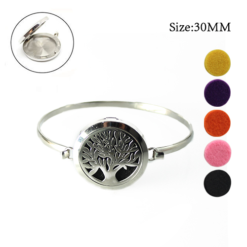 30MM Tree of Life Perfume Diffuser Locket Bangle