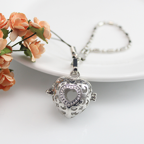 26x27MM Heart Diffuser Locket Cellphone charm